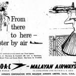 Classic Newspaper Advertisements which were Common in 1950s Borneo